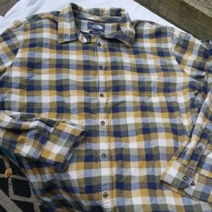 The north face mens flannel button up